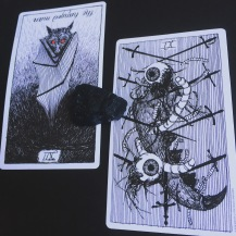 Hanged man and nine of swords