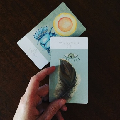 White Sage Tarot Sun and Magician Card